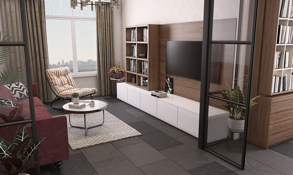A living room flooring made of tiles marble floor living room which gives a lovely rustic and a warm tone