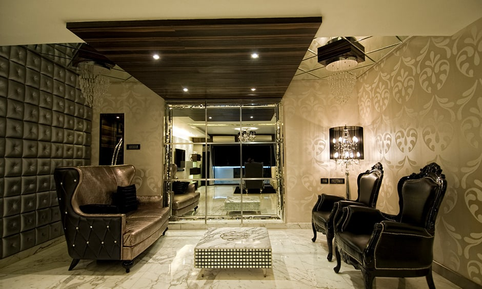 A marvellous living room floor design which is a natural stone and is considered a premium element