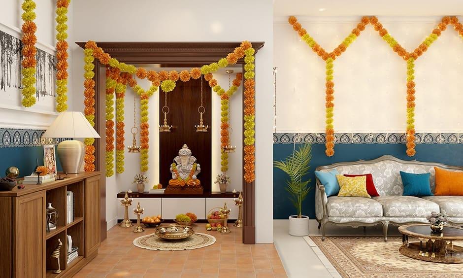 Ganesh Chaturthi Decoration Ideas At Home | Design Cafe