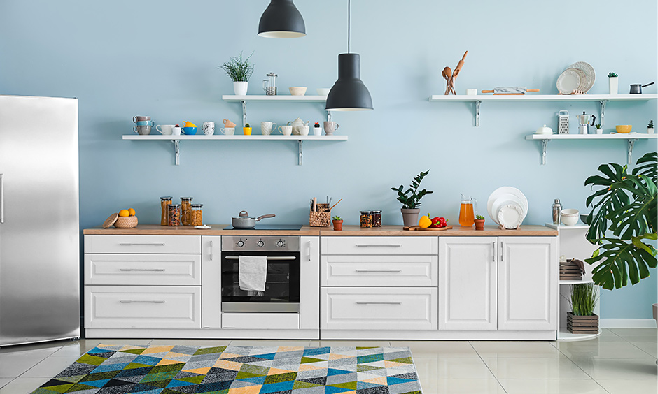 Open shelving kitchen storage tips for small kitchens