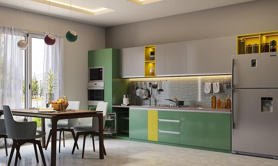 Kitchen dimensions for backsplashes, height should be 60 centimeters