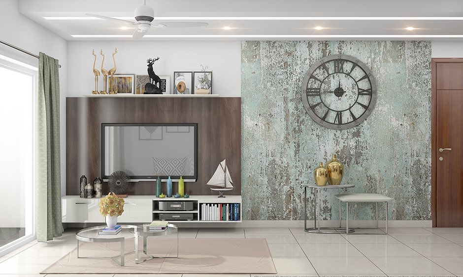 Back painted glass design for your living room