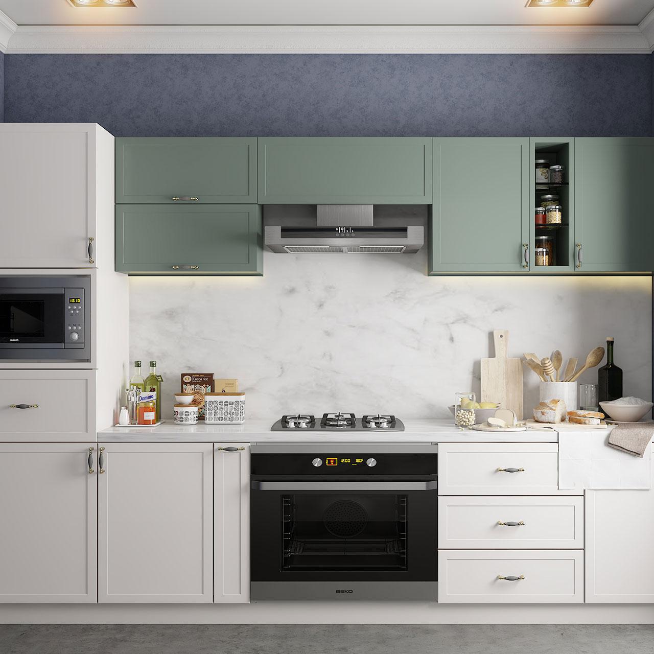 Modern modular kitchen design is a very popular kitchen design type