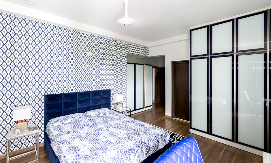 The admirals 2 bhk independent house design with a touch of elegance and the wooden floor