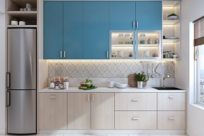 Select your straight modular kitchen layout for apartments or low activity homes