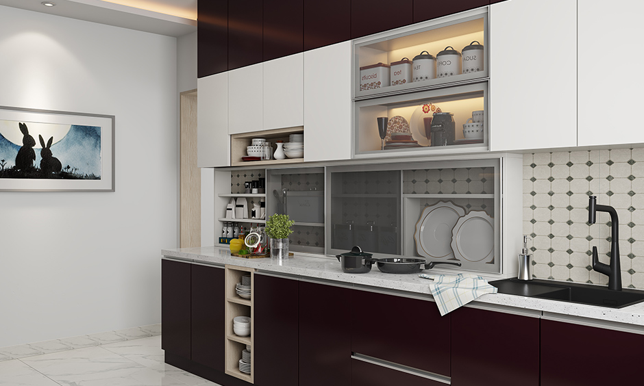 Disadvantages of acrylic kitchen cabinets is that fingerprints and scratches, are easily visible