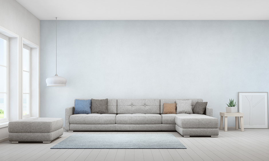 Low height sectional sofa with tufted seats look incredibly stylish but also fabulous as a backrest.