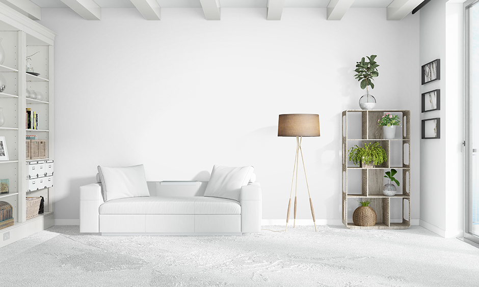 Lawson white sofa in living room is an excellent pick if you have a tiny knit family.