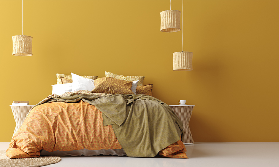 Mustard yellow color paint for your home