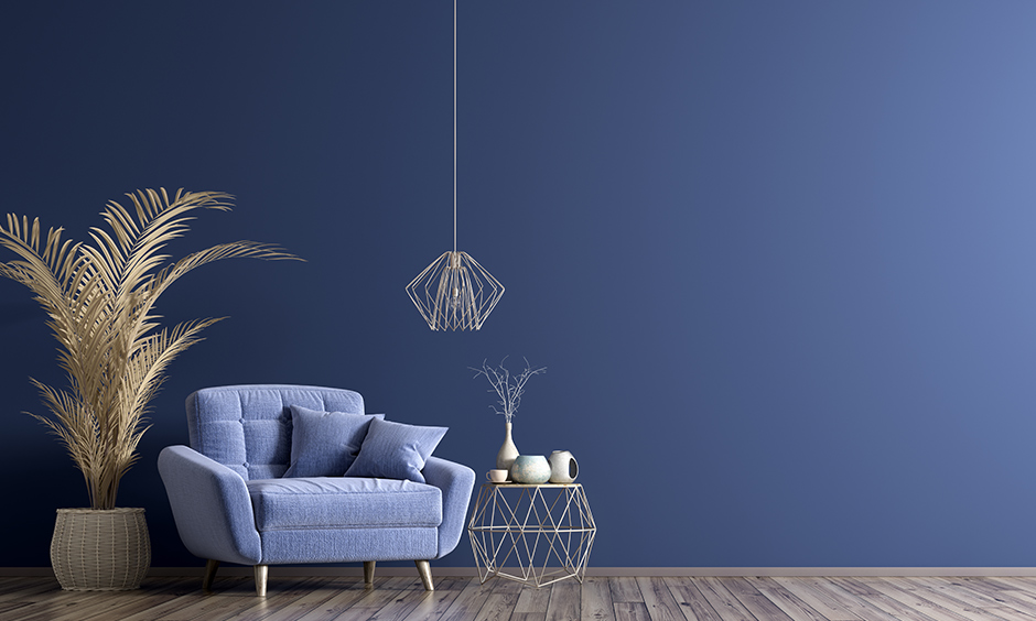 What colors match with blue for your home