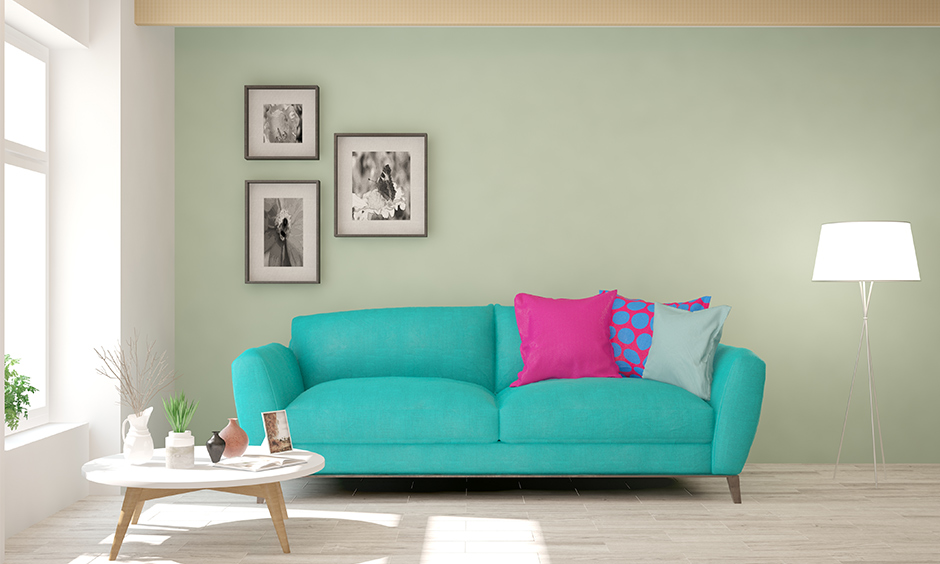 Green or Mint green pastel wall paint colour adds a touch of freshness as well as softness to a room.