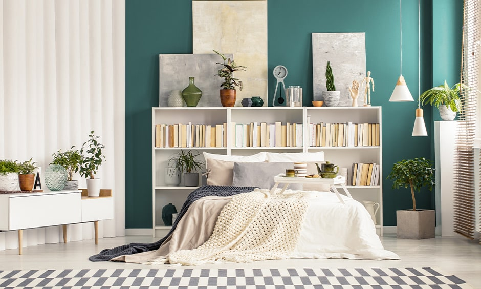 Girls bedroom colours with green adds natural freshness to a space