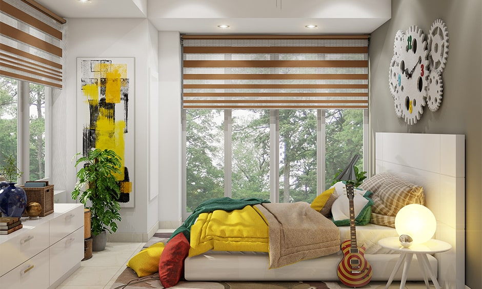 Girls bedroom colours schemes with yellow