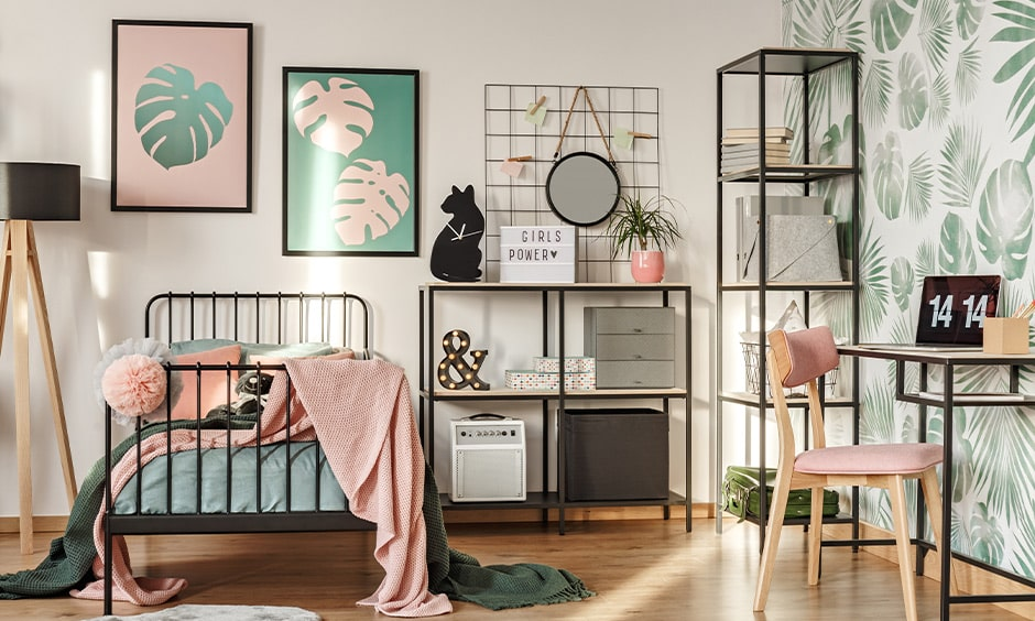 Girls bedroom paint ideas with teal and pink girls bedroom colours