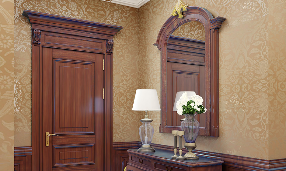 Stylish wallpaper design for hall