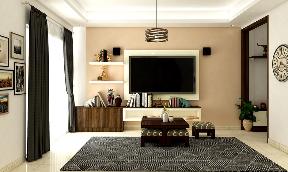 Pastel coloured paint is a great idea for an accent wall is a living room paint ideas with accent wall