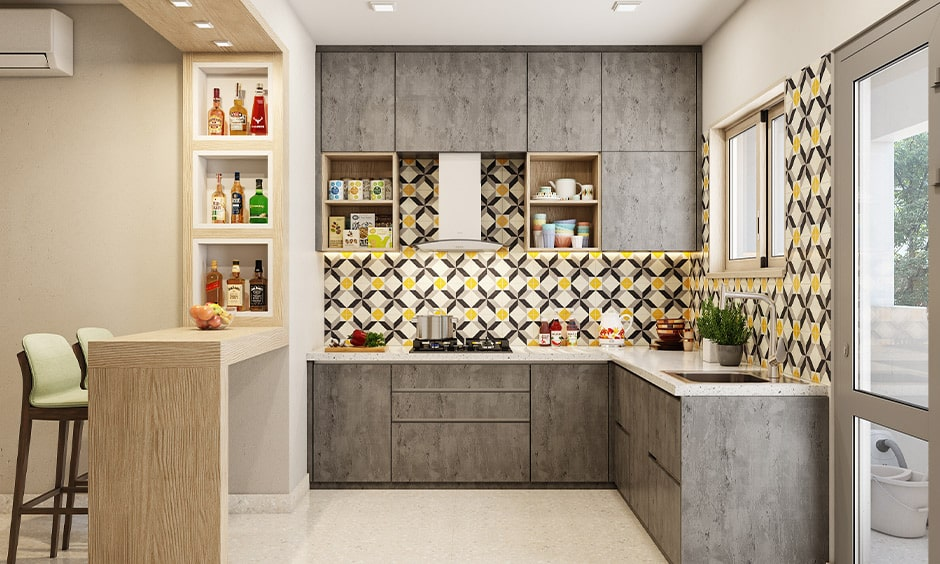 Breakfast bar countertop with a bar unit for your home