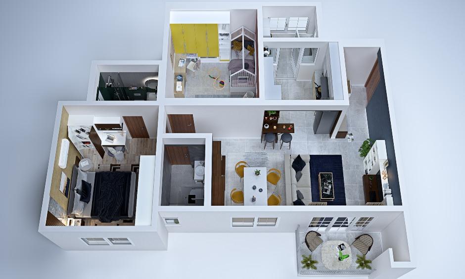 2bhk house plan to make proper 2bhk interior design