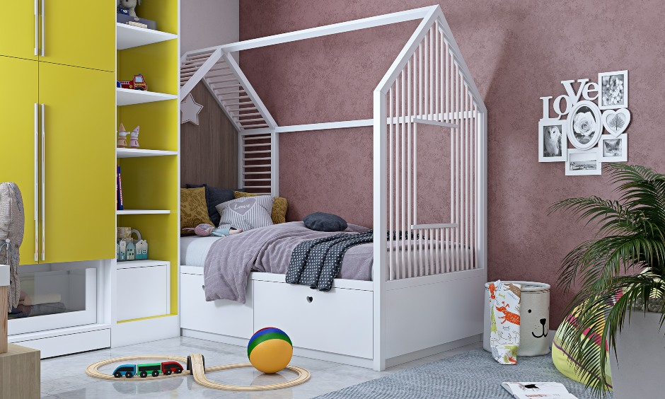 2bhk flat kids bedroom interior design