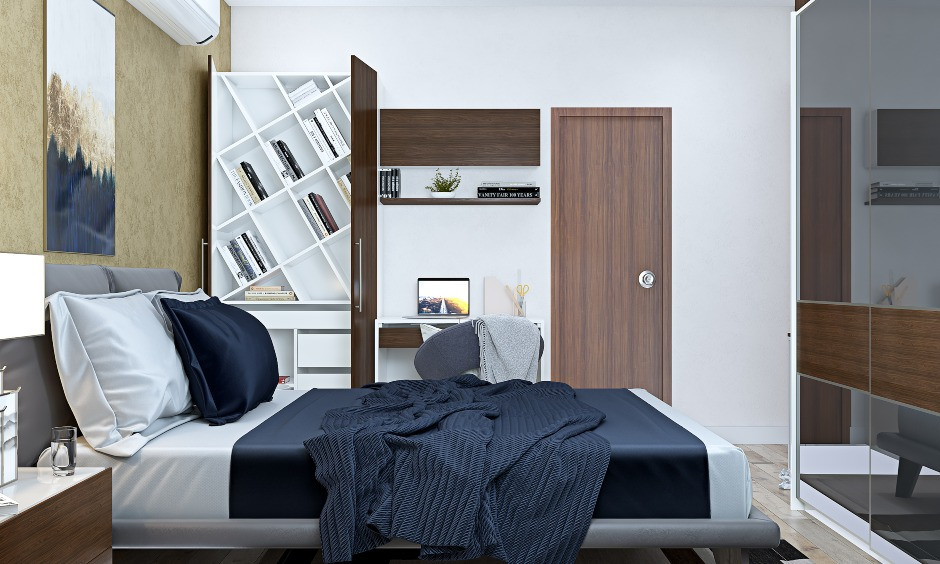 2bhk flat master bedroom interior designers in bangalore, mumbai and hyderabad