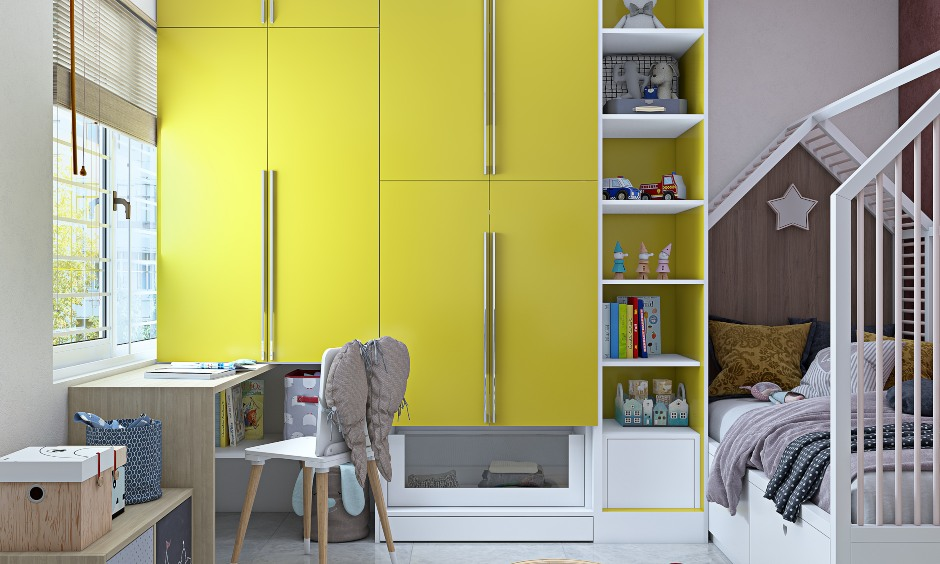 Study room design in 2bhk flat house design