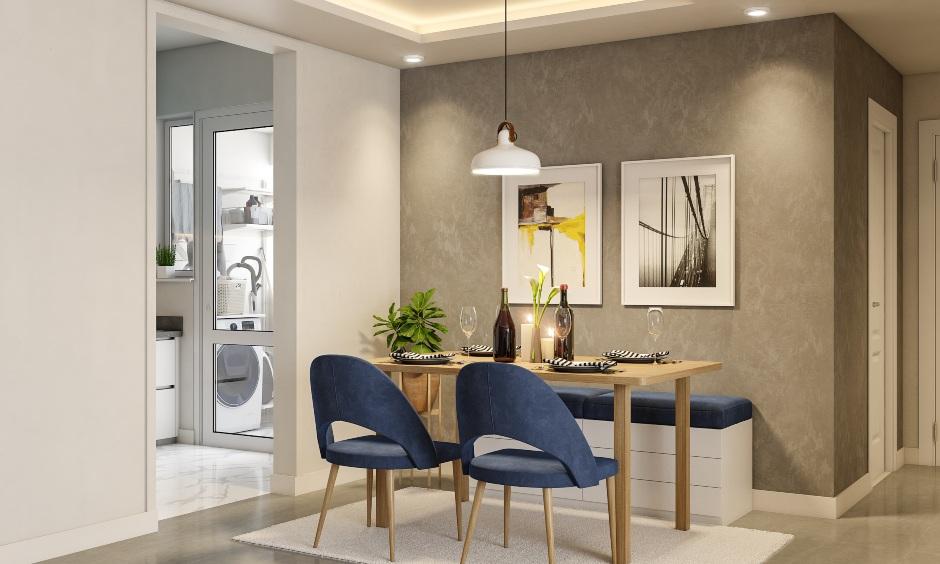 Dining room interior design in 2bhk home apartment interior design