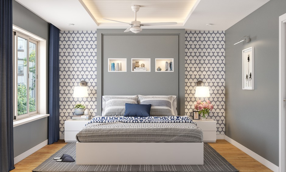 Master bedroom design in 2bhk home apartment to make a beautiful 2bhk apartment design