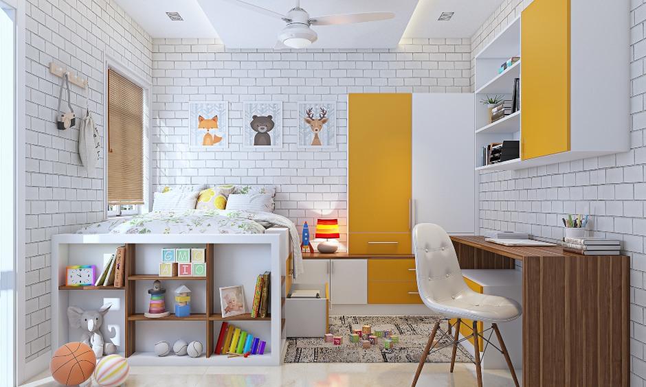 2bhk home children's bedroom interior design images