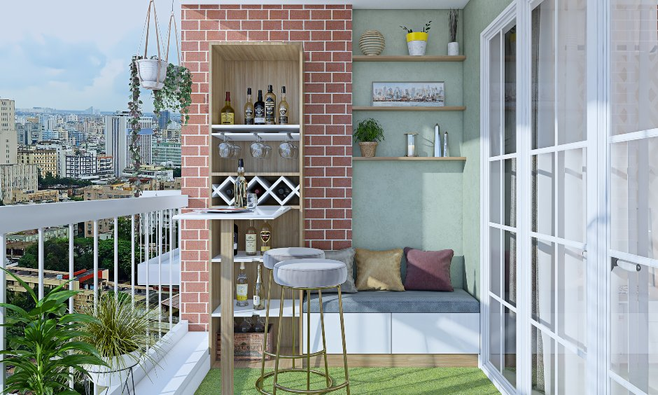Latest balcony design images for 2bhk house design