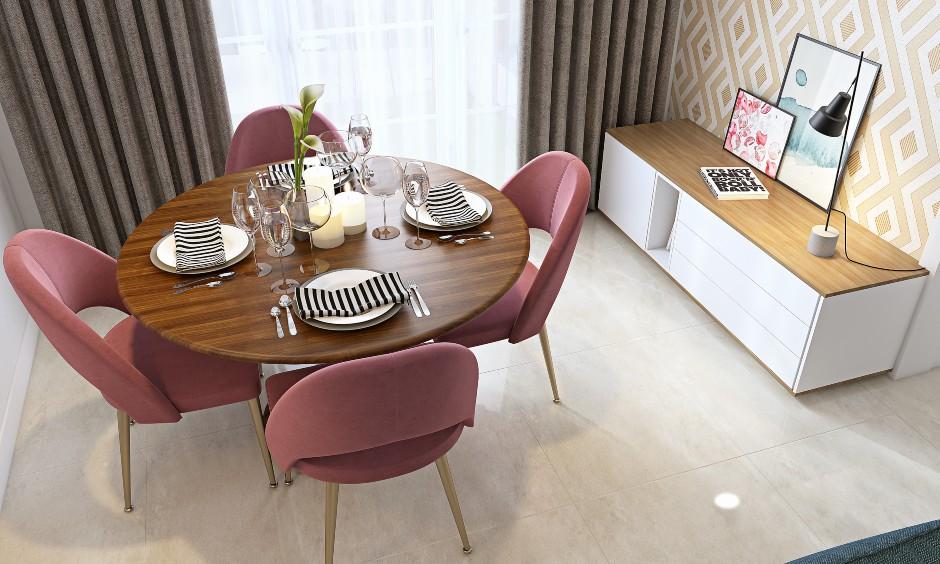 Dining room interior design for 2bhk home design in bangalore