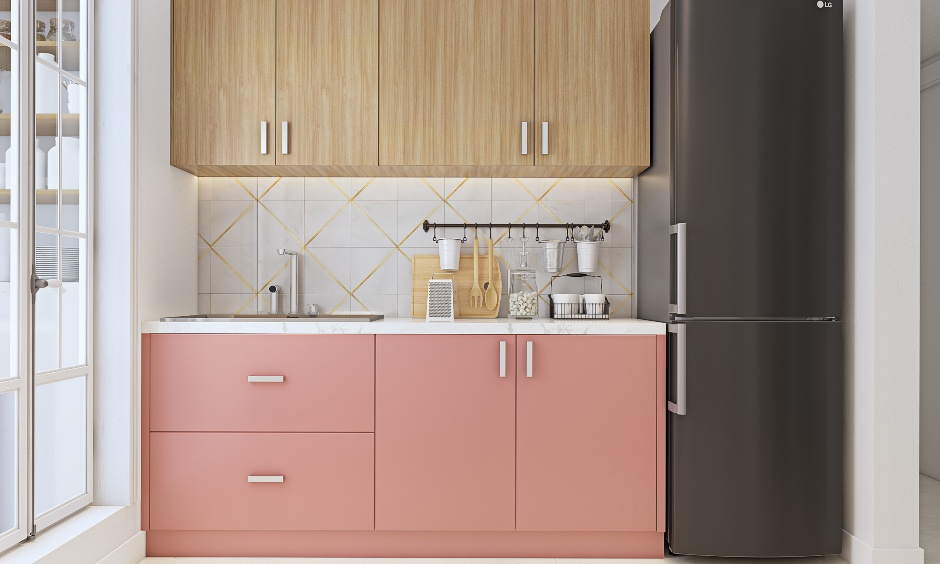 Latest modular kitchen interiors for 2bhk home design