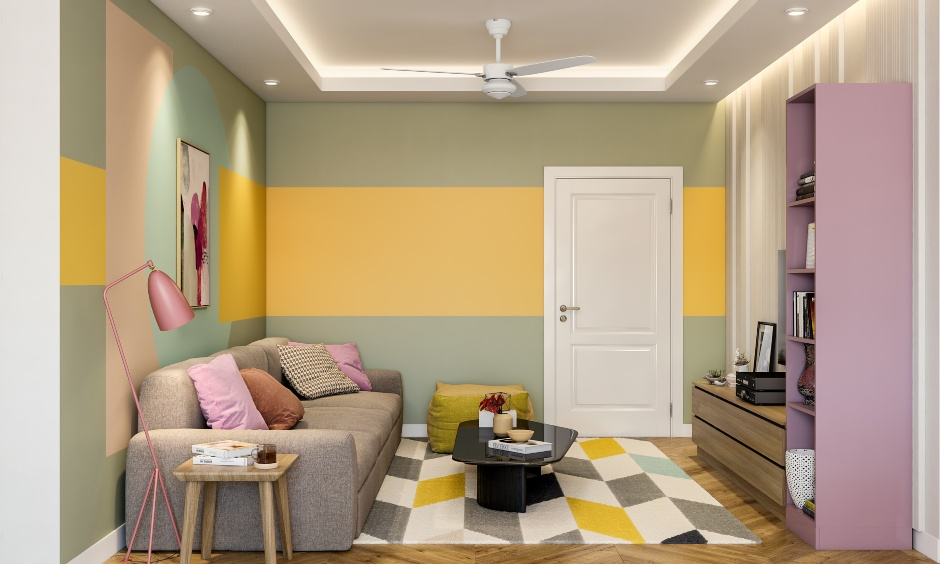 Small living room design in 3 bhk flat interior design in india