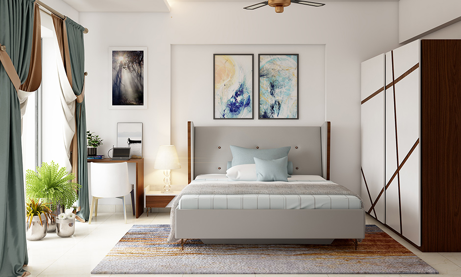 Simplicity comes with a simple wedding bedroom decoration where plants will give your room a sense of freshness