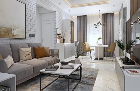 3bhk house flat interior design