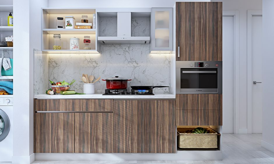 Modular kitchen design is the main part for 3 bhk interior-design