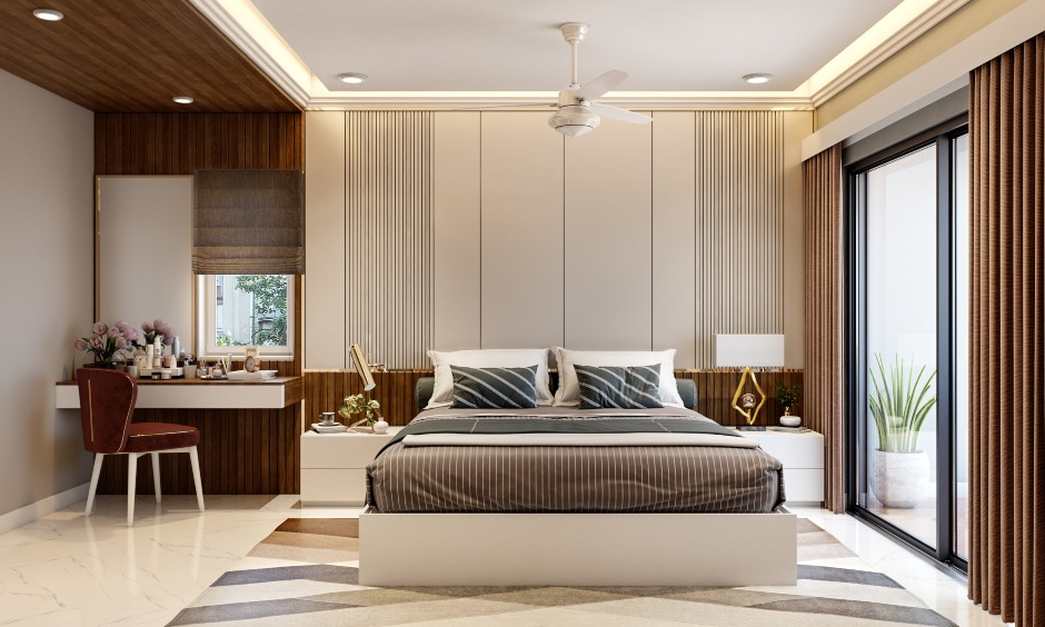Classic bedroom design in 3 bhk home design