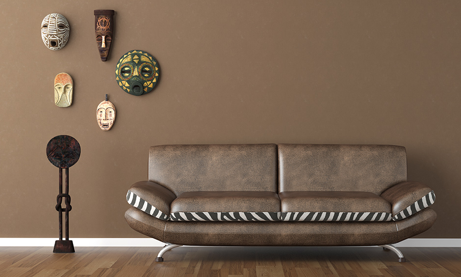 Colors that go with brown for areas like living rooms, dining areas