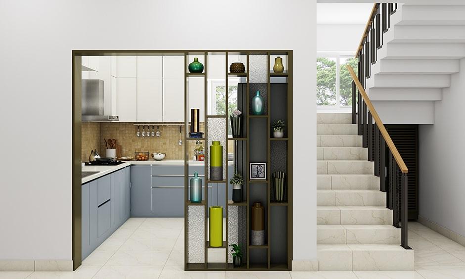 Decorative kitchen partition ideas with fiber or iron-based decorative kitchen partition