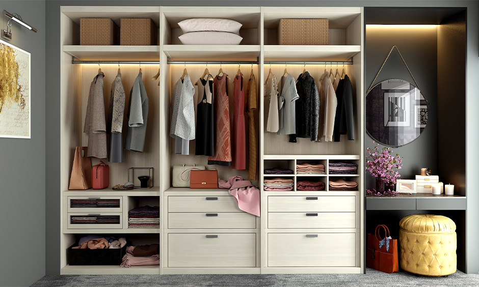 Walk in wardrobe dressing table models which is a perfect place to have a dressing table