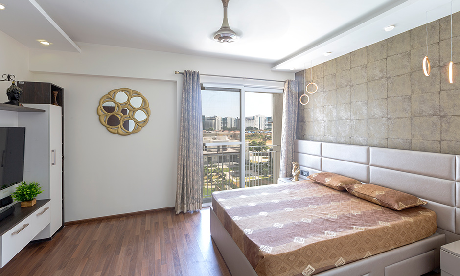 bedroom designed by top interior designing companies in bangalore