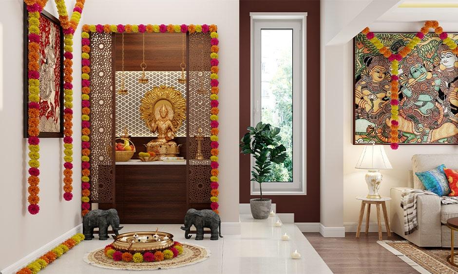 Mandap decorations for navratri to make beautiful navratri puja decoration at home