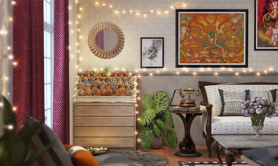 Navratri decoration at home with stunning navratri puja decorations