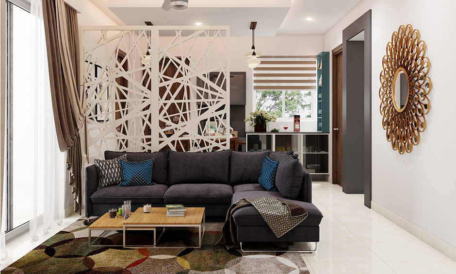 Abstract partition wall types of artistic interpretation for a separator and brings aesthetic appeal to your home.