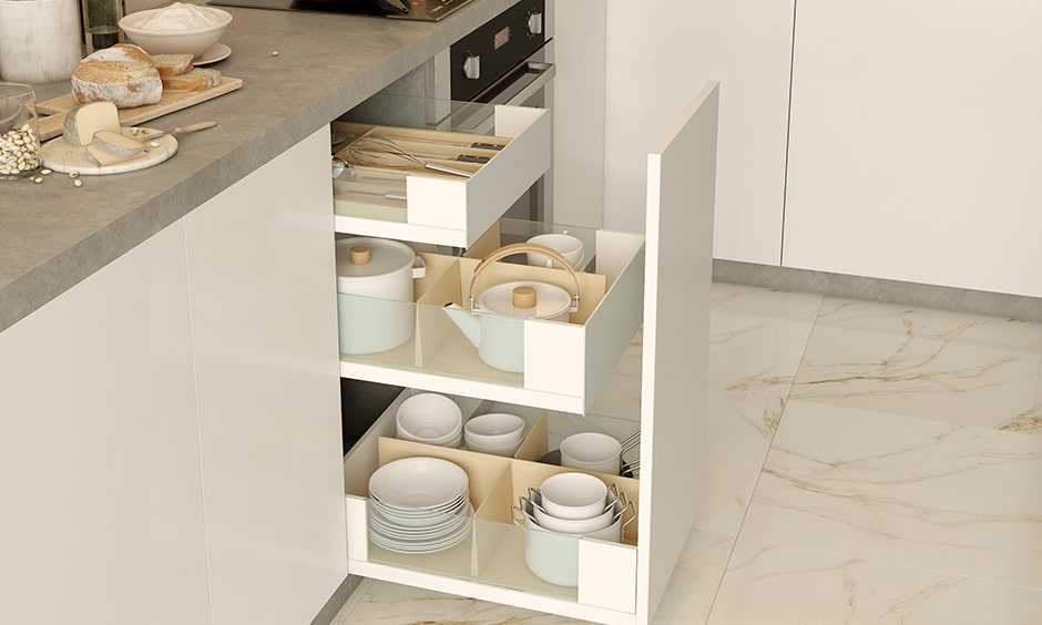 Modular pull outs one of the kitchen accessory