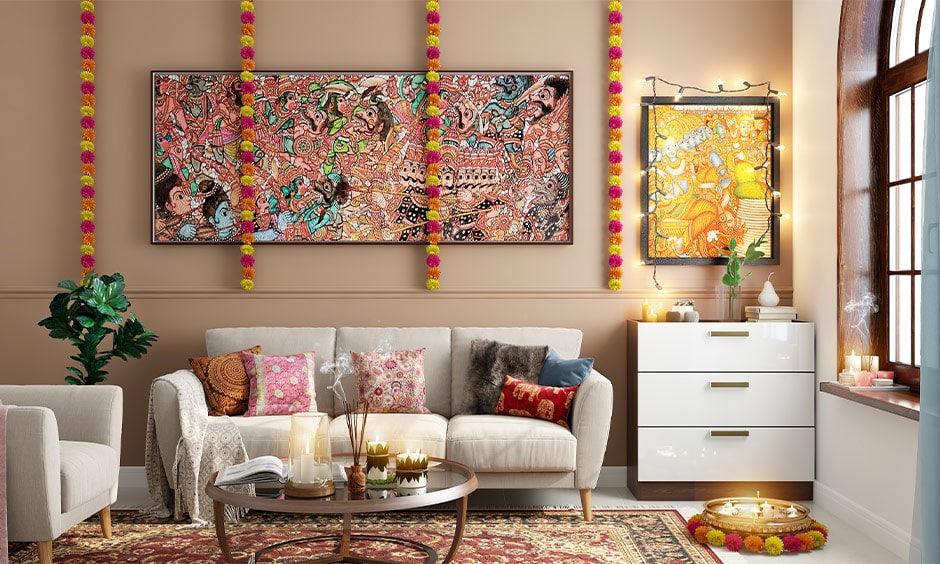 Dussehra decoration ideas for your living room
