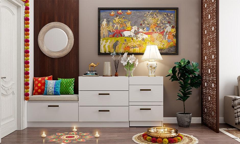 Foyer decoration ideas for dussehra festival