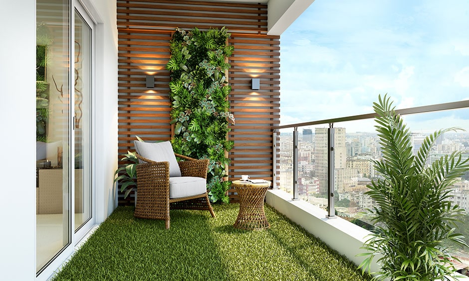 Artificial grass for balcony flooring to incorporate nature and greenery in your balcony
