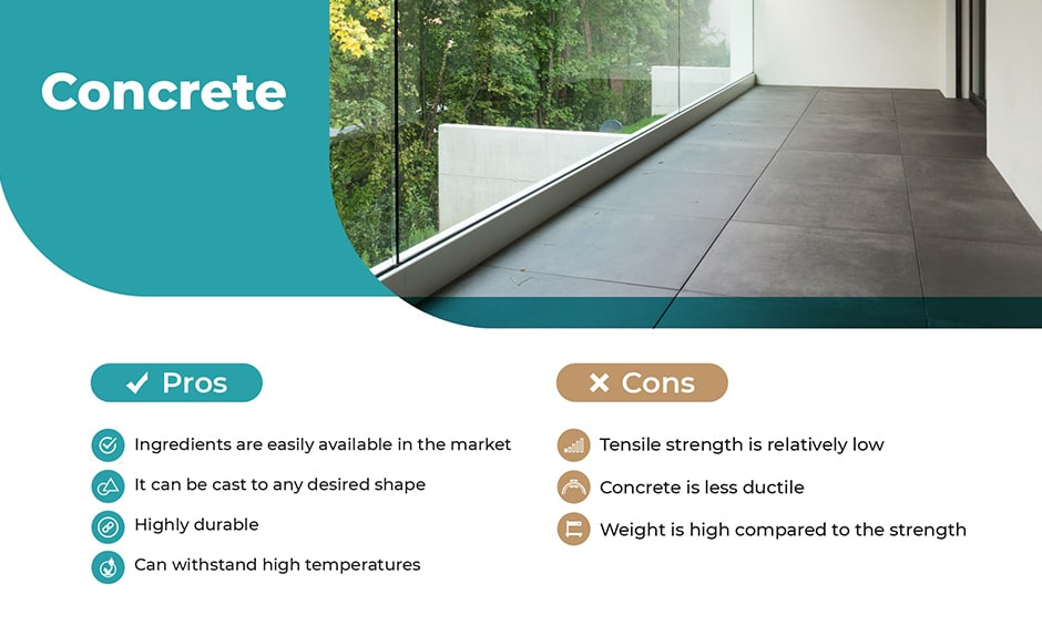 Balcony flooring, concrete as the material for balcony flooring