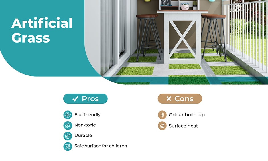 Guide to balcony flooring with artificial grass
