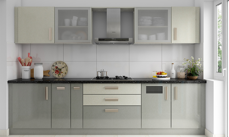 modern contemporary kitchen cabinet design with metallic accents